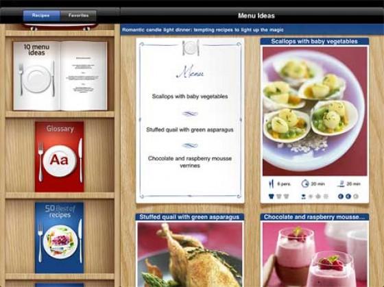 French Cuisine App Menüs