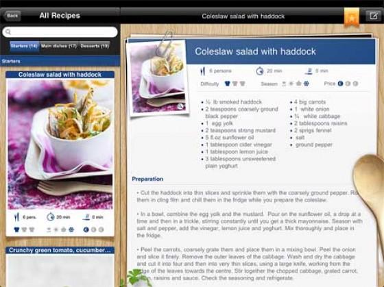 French Cuisine App Rezept