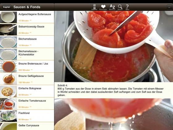 Kochen App Zubereitung