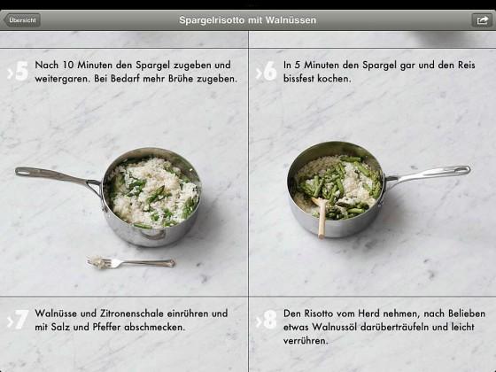 Fotokochbuch App Zubereitung