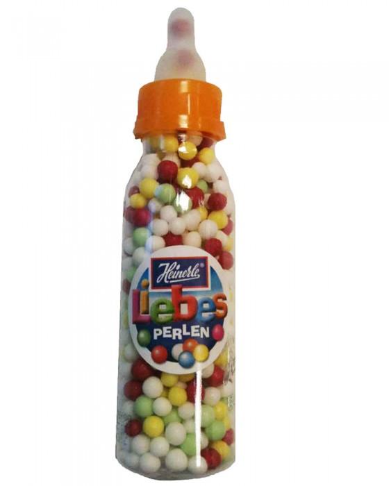 Perlen der Liebe in der Babyflasche! Bunt, süß