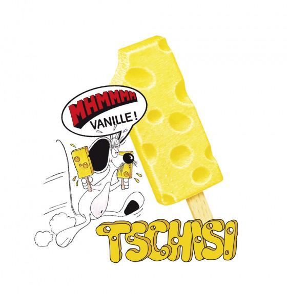 Tschisi-Eis: Ein Klassiker, den es heute nicht mehr gibt, der aber von vielen vermisst wird. Das gelbe Eis in Käse-Optik zählte bei vielen Kindern in den 1990ern zu den beliebtesten Eissorten.