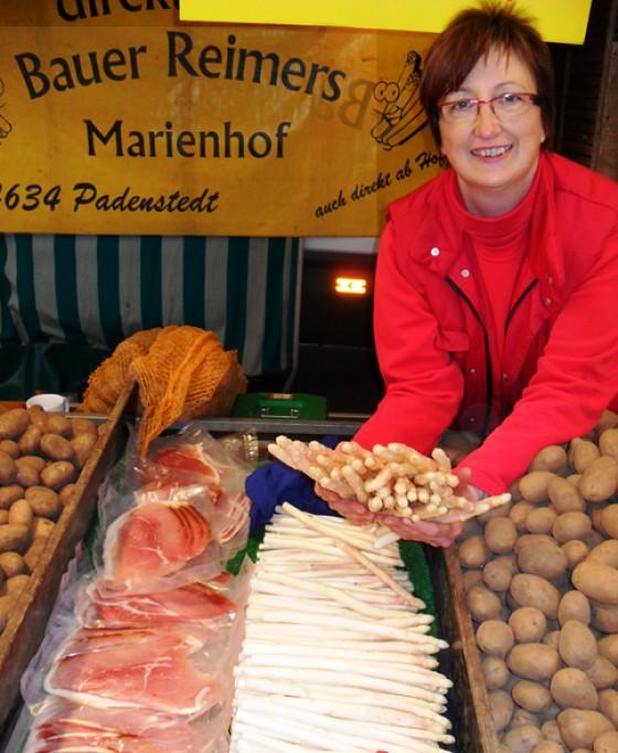 Spargel aus Schleswig Holstein Bauer Reimers Isemarkt