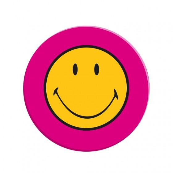 Grinsender Teller in Pink
