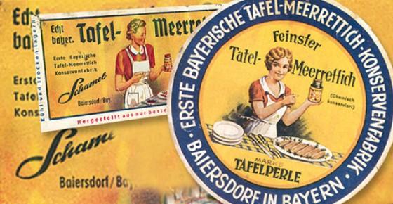 Schild Meerrettich Museum Bayern