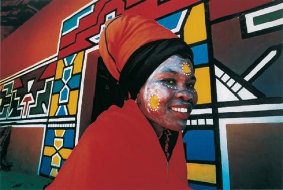 Ndebele-Frau