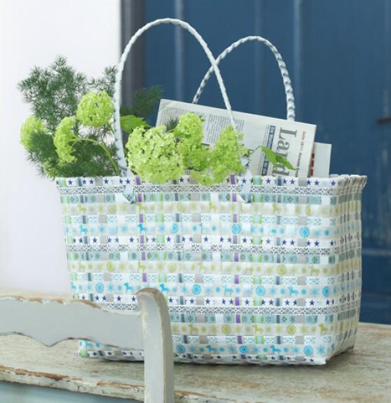 markttasche mit flechtmuster sch n praktisch einkaufstaschen 1 essen trinken. Black Bedroom Furniture Sets. Home Design Ideas