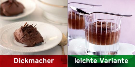Mousse au chocolat klassisch und leicht
