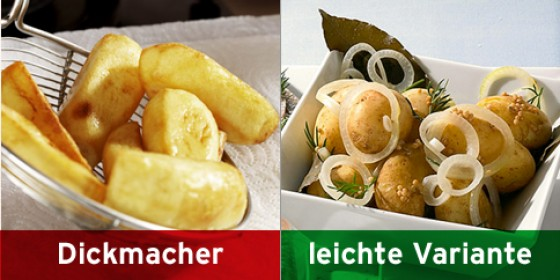 Brückenpfeiler-Kartoffeln, Kartoffeln in Dillsud gegart