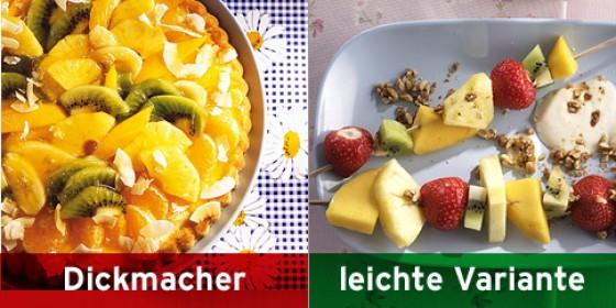 Obstkuchen, Obstspiesse