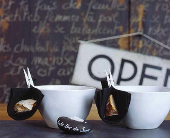 Dekotipp Serviettendeko für die Suppenschale