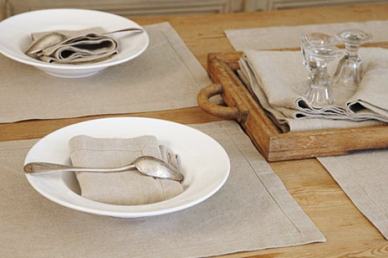 Tischwäsche aus Leinen