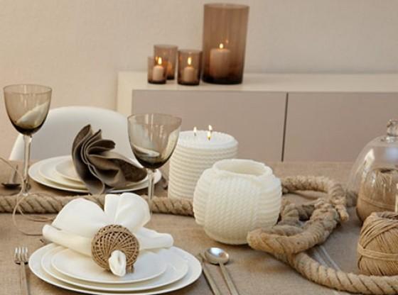 Tischdeko Naturlook Wolle