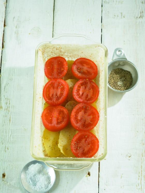 Tomaten aufschichten