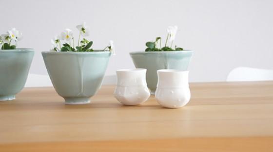 Frühling Deko, kleine Vasen, Schale, la mesa