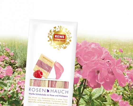 REWE Feine Welt Schokolade Rosenhauch