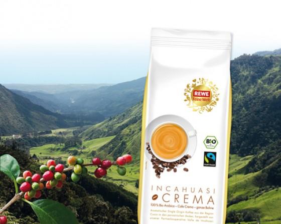 REWE Feine Welt Kaffee INCAHUASI CREMA