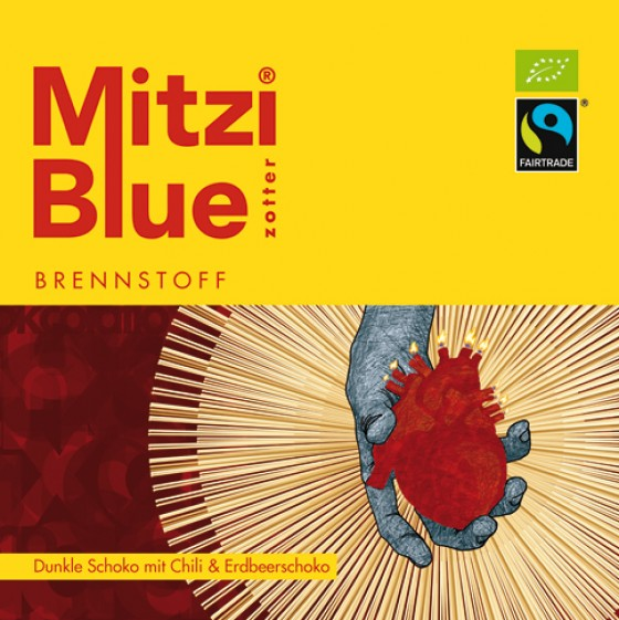 Schokolade Mitzi Blue Brennstoff