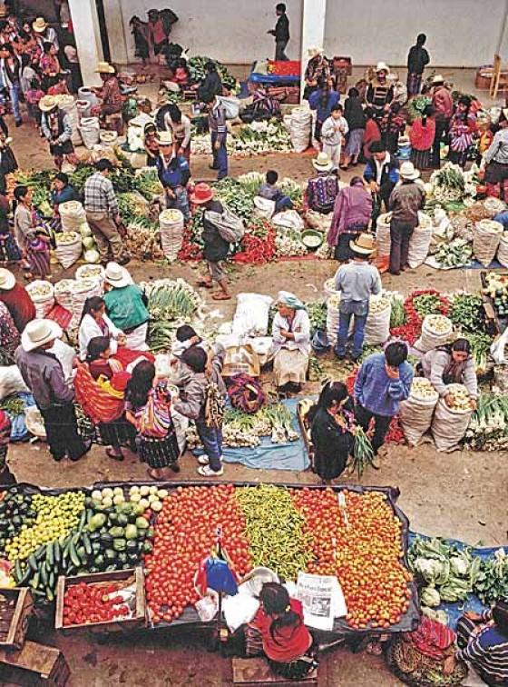 Marktszene in Guatemala, Mexiko