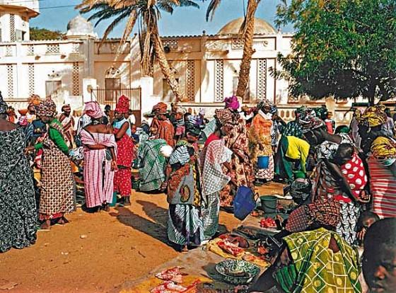 Der Markt von Saint Loius, Senegal