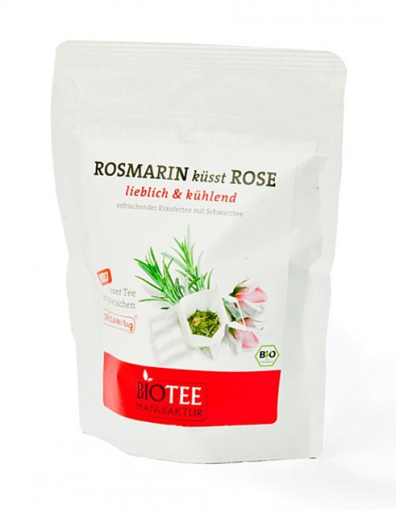Rosmarin küsst Rose Tee Bioteemanufaktur