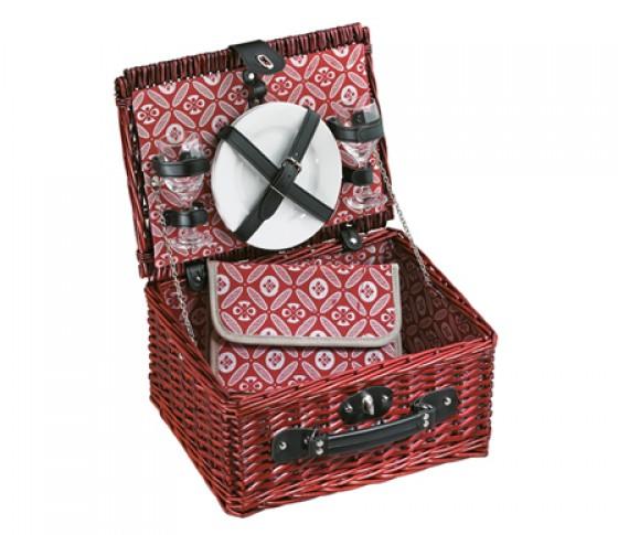 Wer romantisch zu zweit unterwegs ist, für den ist die cilio Neuheit – der Picknickkorb Bellagio (UVP 49,95€) –  genau das richtige. Der Korb aus Halbweide beinhaltet je zwei Messer, Gabeln und Löffel