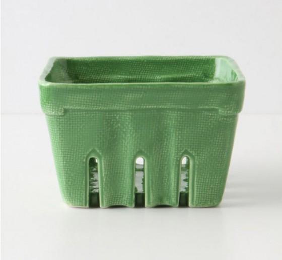 Grüne Beerenschale aus Keramik
