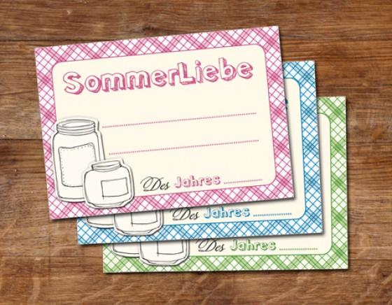 Etiketten für Einmachgläser
