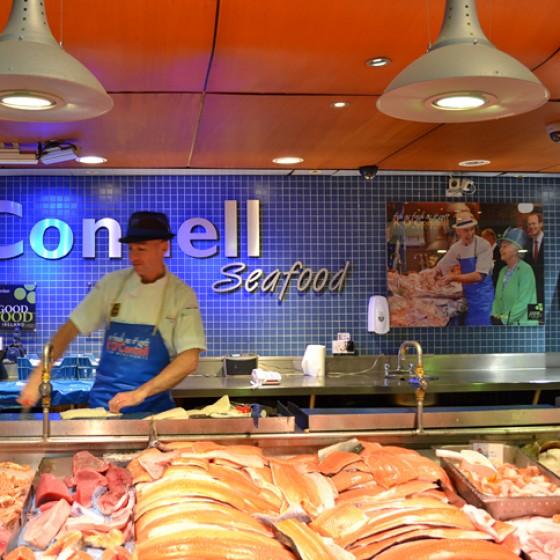Irland English Market Indoor Markt in Cork Fischstand