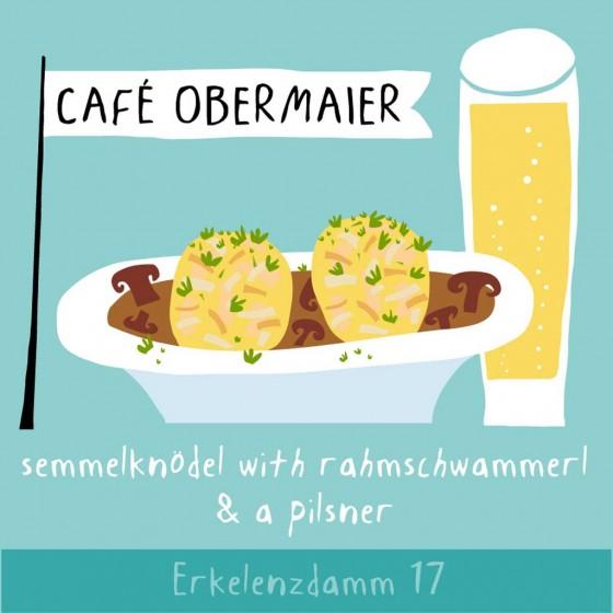 Gruß aus Berlin: Semmelknödel with Rahmschwammerl & a Pilsner im Café Obermeier