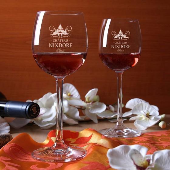 Gravierte Weingläser von Dessin 3000