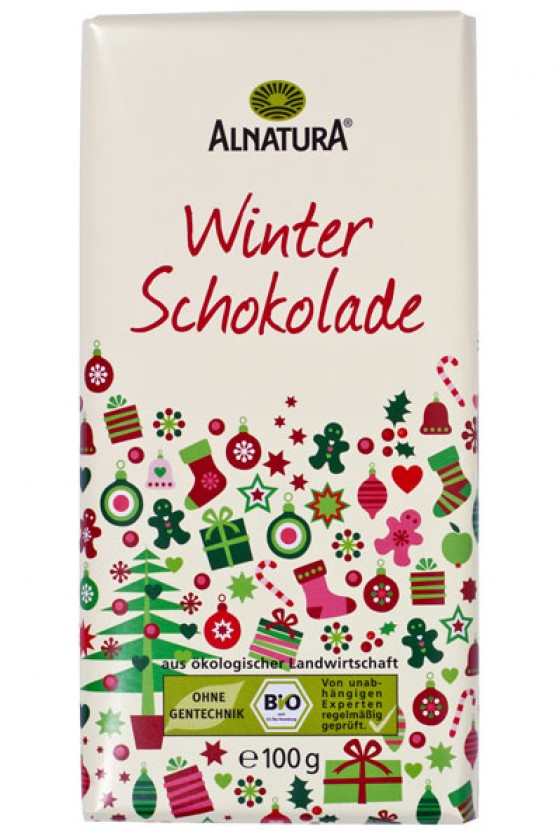 Winterschokolade von Alnatura