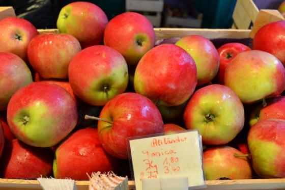 Äpfel Wochenmarkt Herbst 2012