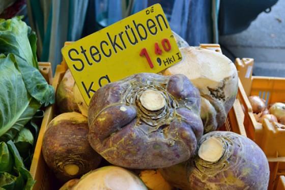 Steckrüben Wochenmarkt Herbst 2012