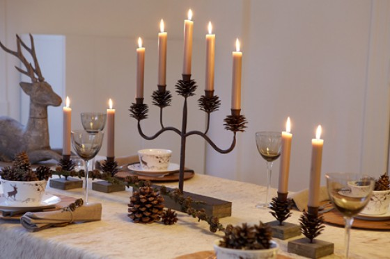 5-armiger Kerzenständer, Chalet