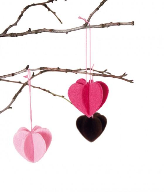 Filzherzen von Dawanda Valentinstag-Schmuck