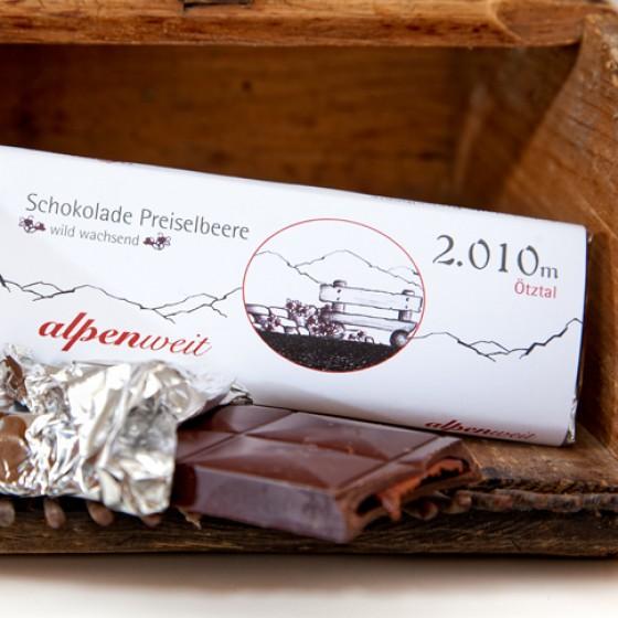 Preiselbeer-Schokolade von alpenweit