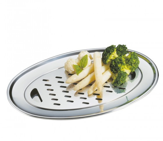 Spargelablage mit Abtropfsieb von Küchenprofi