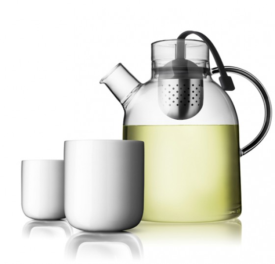 Menu Tea Pot Kettle Glass with Tea