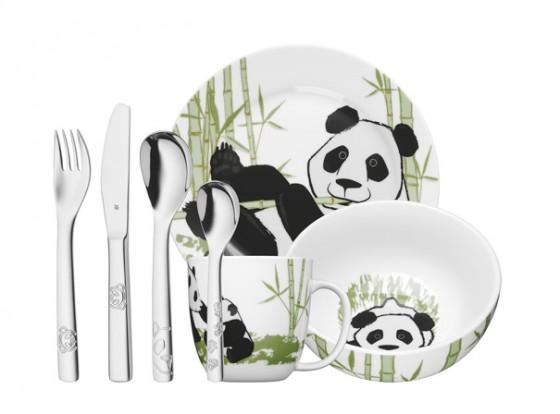 Teller, Schale, Becher: Pandabären