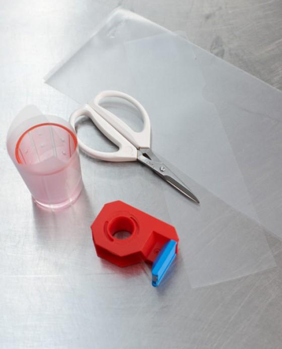 Workshop Parfait Material bereitlegen um Gläser zu verlängern