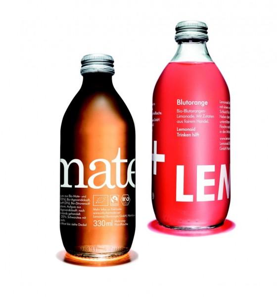 ChariTea Mate und LemonAid Blutorange