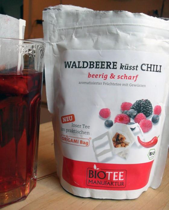 Tee Waldbeere und Chili Biotee Manufaktur