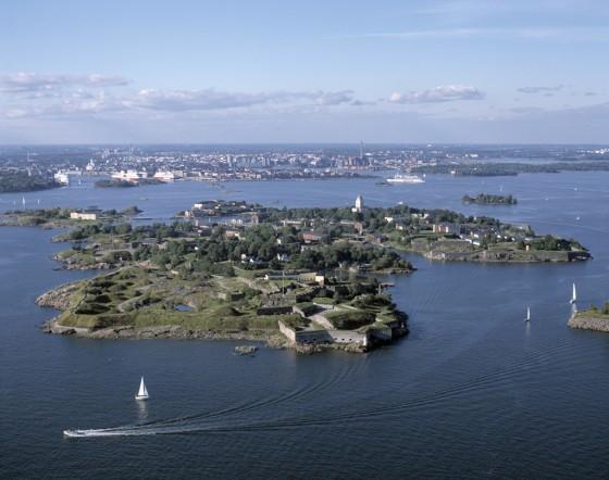 Suomenlinna aus der Luft