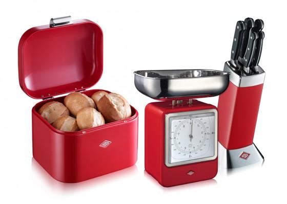 Ganz in Rot: Die Küchenhelfer von Wesco