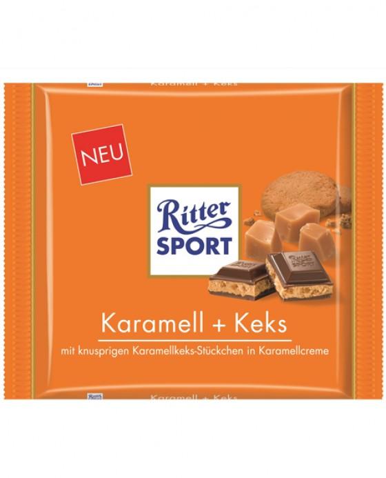 Karamell + Keks, 250g-Tafel von Ritter Sport