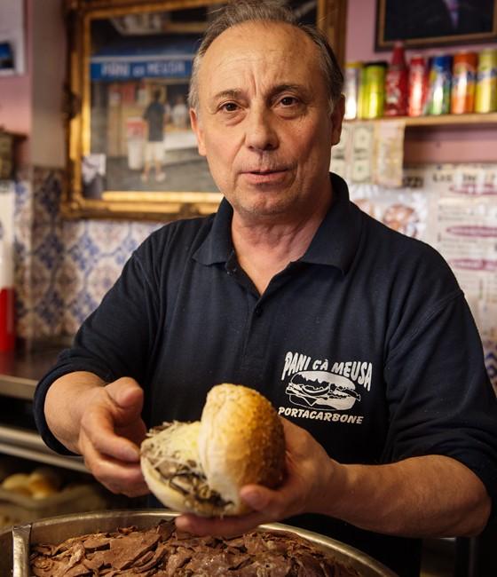 Palermo: Imbiss/ Milzbrötchen