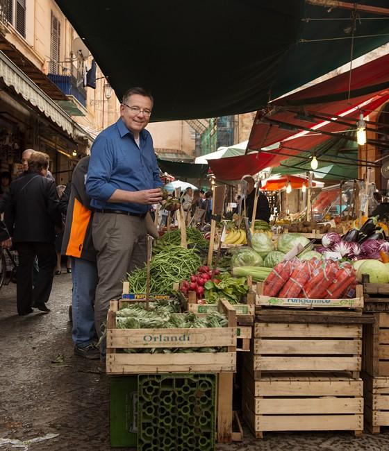 Palermo: Kay-Henner auf dem Markt Ballarò