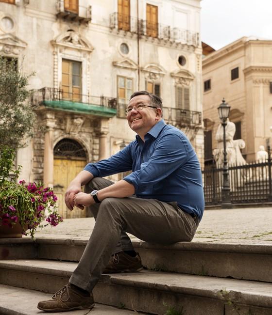 Palermo: Kay-Henner auf der Piazza Pretoria