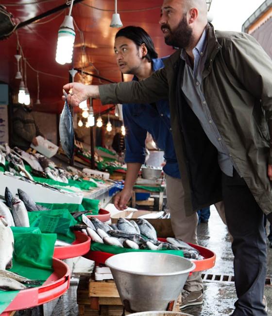 Istanbul Fischmarkt von Karaköy